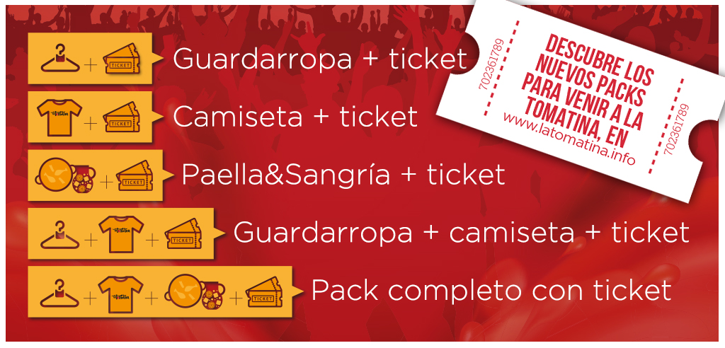 New ticket packs of Buñol Merchants Association